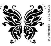 ornamental butterfly. vector... | Shutterstock .eps vector #137276603