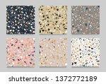 set of terrazzo flooring... | Shutterstock .eps vector #1372772189
