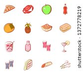 food images. background for... | Shutterstock .eps vector #1372778219