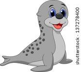 cute baby seal cartoon | Shutterstock .eps vector #137278400