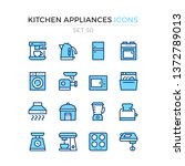 kitchen appliances icons.... | Shutterstock .eps vector #1372789013