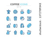 coffee icons. vector line icons ...   Shutterstock .eps vector #1372789343