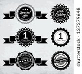 promotion badges in black and... | Shutterstock .eps vector #137279648