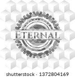 eternal grey emblem with...   Shutterstock .eps vector #1372804169
