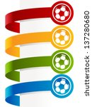 colorful soccer ball banners  | Shutterstock .eps vector #137280680