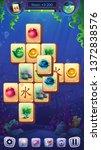 mahjong fish world   vector... | Shutterstock .eps vector #1372838576