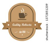 vintage coffee banner with flat ... | Shutterstock .eps vector #1372851209