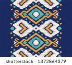 ikat geometric folklore... | Shutterstock .eps vector #1372864379