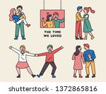 characters for a couple's... | Shutterstock .eps vector #1372865816