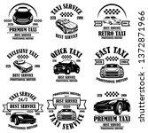 set of taxi service emblems....   Shutterstock .eps vector #1372871966