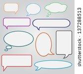 set of speech bubbles   Shutterstock .eps vector #137288513