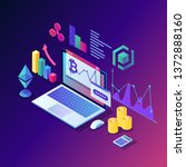 cryptocurrency and blockchain.... | Shutterstock .eps vector #1372888160