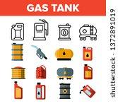 gas  petrol tank linear vector... | Shutterstock .eps vector #1372891019