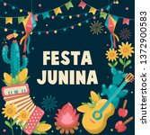 Hand Drawn Festa Junina Brazil...