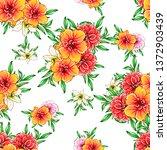 flower print. elegance seamless ... | Shutterstock .eps vector #1372903439