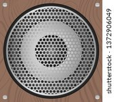 audio speakers in a wooden box. ... | Shutterstock .eps vector #1372906049