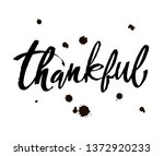 thankful thanksgiving day...   Shutterstock .eps vector #1372920233