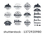 emblems and lettering set of... | Shutterstock .eps vector #1372920980