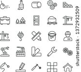 thin line vector icon set  ... | Shutterstock .eps vector #1372932509