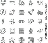 thin line vector icon set  ... | Shutterstock .eps vector #1372932530