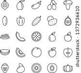 thin line vector icon set  ... | Shutterstock .eps vector #1372936610