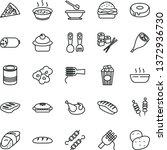 thin line vector icon set  ... | Shutterstock .eps vector #1372936730
