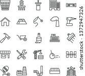 thin line vector icon set  ...   Shutterstock .eps vector #1372947326