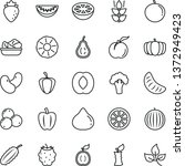 thin line vector icon set  ... | Shutterstock .eps vector #1372949423