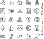 thin line vector icon set  ... | Shutterstock .eps vector #1372949576