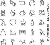 thin line vector icon set  ...   Shutterstock .eps vector #1372949603