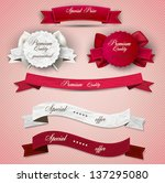 set of superior quality and... | Shutterstock .eps vector #137295080