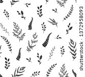 seamless pattern with hand...   Shutterstock .eps vector #1372958093