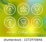 premium honey mark. vector image   Shutterstock .eps vector #1372970846