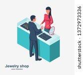 jewelry shop. sale of jewelry.... | Shutterstock .eps vector #1372973336