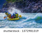 Rafting Stunt While Whitewater...