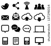 social media icons   set of...