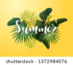summer tropical vector design... | Shutterstock .eps vector #1372984076