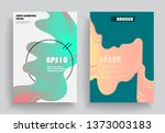 covers templates set with... | Shutterstock .eps vector #1373003183