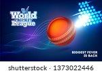 world cricket league banner... | Shutterstock .eps vector #1373022446