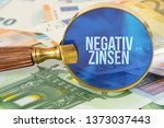 euro banknotes  a magnifier and ... | Shutterstock . vector #1373037443