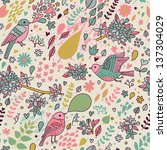 stylish floral seamless pattern ... | Shutterstock .eps vector #137304029