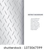 plate metal and space for write ... | Shutterstock .eps vector #1373067599