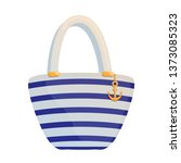striped summer bag isolated on...