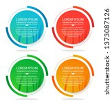 set of round colorful vector...   Shutterstock .eps vector #1373087126