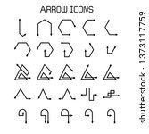 arrow and bow icons set | Shutterstock .eps vector #1373117759