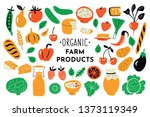 healthy food  organic products... | Shutterstock .eps vector #1373119349