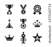award icons set. medals and... | Shutterstock .eps vector #1373142713
