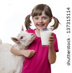 Little Girl Drinking Healthy...