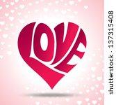 vector of love heart | Shutterstock .eps vector #137315408