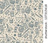 medications seamless pattern | Shutterstock .eps vector #137315618
